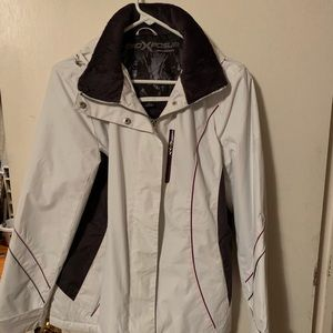 Light waterproof jacket with soft purple lining